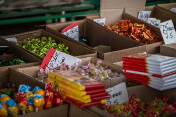 Candy at market