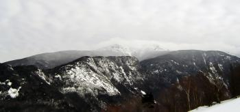 Cannon mountain in winter