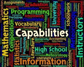 Capabilities Word Means Aptness Ability And Aptitude
