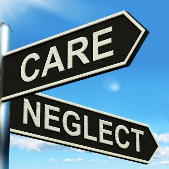 Care Neglect Signpost Shows Caring Or Negligent