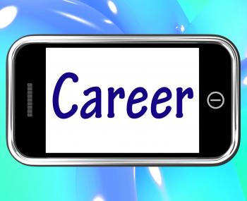 Career Smartphone Means Internet Job Or Employment Search