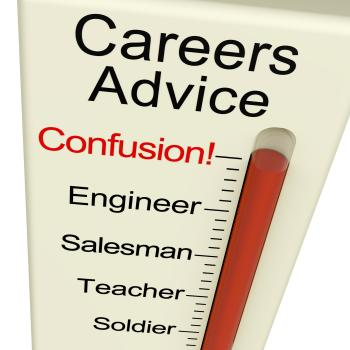 Careers Advice Monitor Confusion Shows Employment Guidance And Decisio