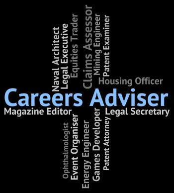 Careers Adviser Shows Work Professions And Guide