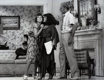 Carol Burnett on the Set