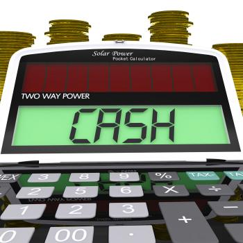 Cash Calculator Means Finances Savings Or Loan