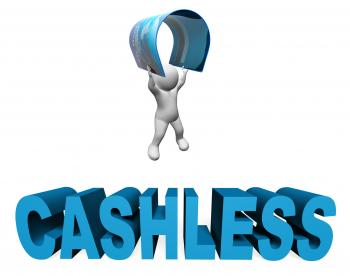 Cashless Credit Card Indicates Purchase Prepaid And Prepay 3d Renderin