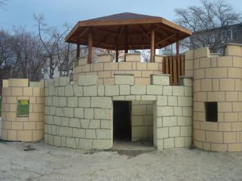 Castle on a children playground
