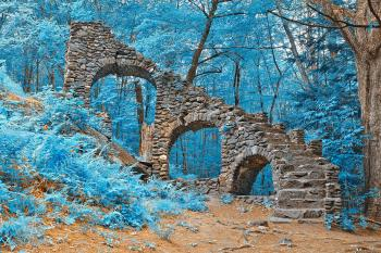 Castle Staircase Ruins - Nuclear Winter HDR