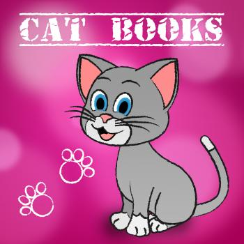 Cat Books Indicates Learn Education And Felines