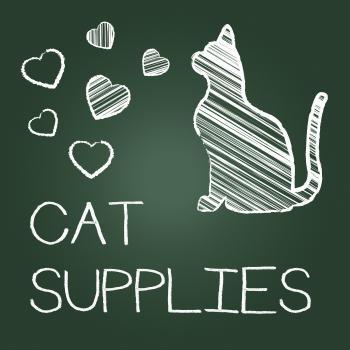 Cat Supplies Indicates Pet Feline And Goods