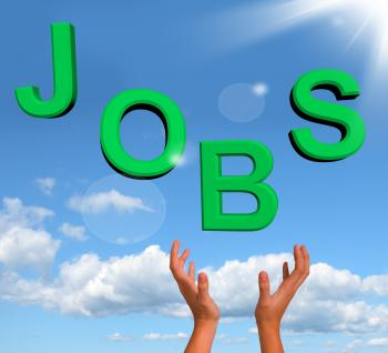 Catching Jobs Word Showing Work And Careers
