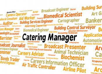 Catering Manager Represents Employee Position And Recruitment