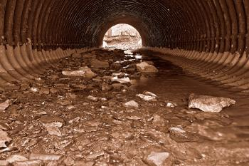 Catoctin Tube Tunnel - Sepia HDR