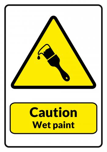 Caution Wet Paint Printable