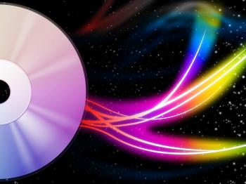 CD Background Means Music And Colorful Swirls