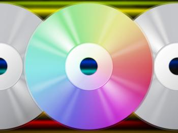 CD Background Means Music Artists And Rainbow Lines