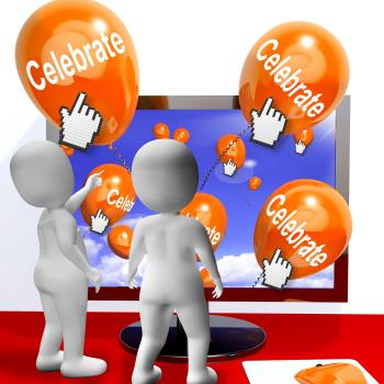 Celebrate Balloons Mean Parties and Celebrations Internet