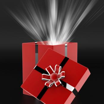 Celebrate Surprise Means Gift Box And Present