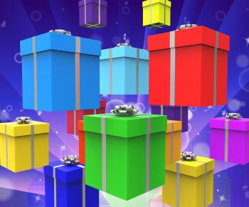 Celebration Giftboxes Represents Surprise Gifts And Party