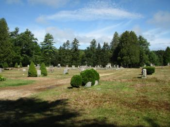 Cemetery from a distance