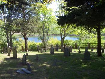 Cemetery with Pond View