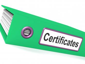 Certificates File Containing Diplomas And Records