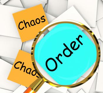Chaos Order Post-It Papers Show Disorganized Or Ordered