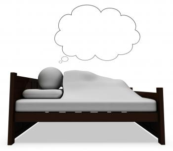 Character Dream Shows Go To Bed And Bedroom 3d Rendering