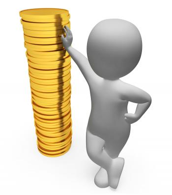 Character Finance Indicates Figures Money And Wealth 3d Rendering