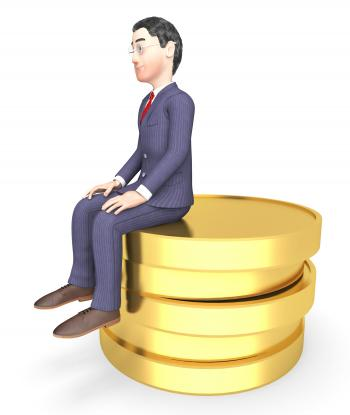 Character Finance Shows Business Person And Success 3d Rendering