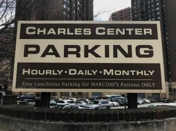 Charles Center Parking Sign, 259 N. Liberty Street, Baltimore, MD 21201