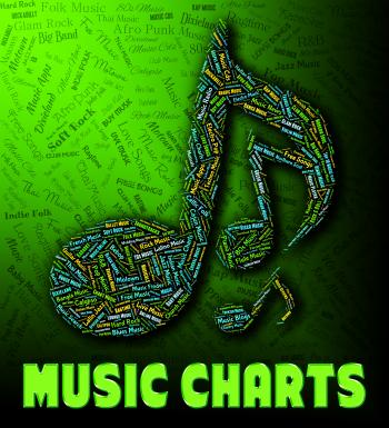 Chart Music Indicates Best Sellers And Albums