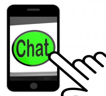 Chat Button Displays Talking Typing Or Texting