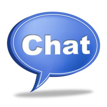 Chat Message Represents Communicate Networking And Call