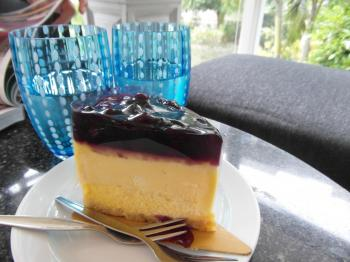 Cheesecake and Water