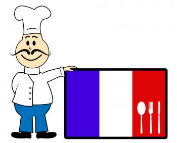 Chef France Means Cooking In Kitchen And Europe
