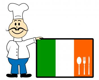 Chef Ireland Shows Cooking In Kitchen And Catering