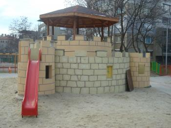 Children playground castle