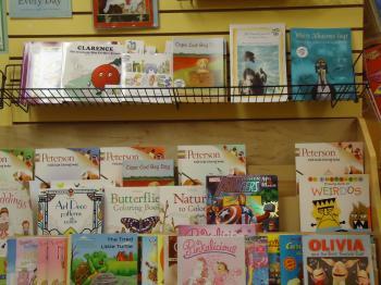 Children's books display