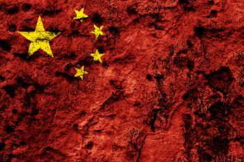 China Grunge Flag