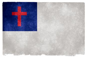 Christianity Grunge Flag