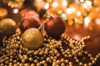 Christmas Gold Balls