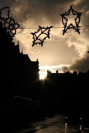 Christmas jingle in the street