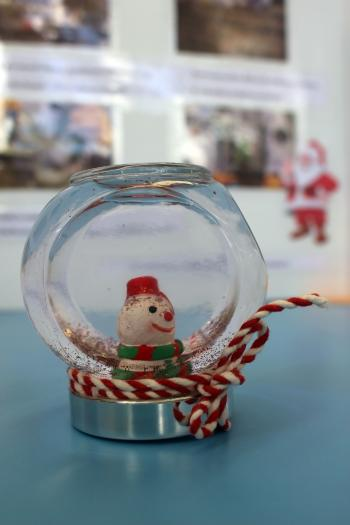Christmas Snow Globe with Snowman Inside