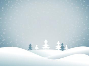 Christmas snowy landscape - Xmas postcard with copyspace - Blue tones