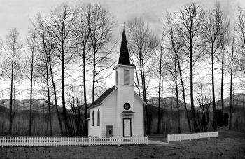 Church Behind of Bare Trees