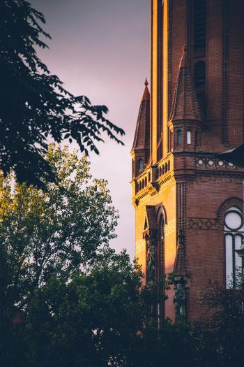 Church in Evening Light
