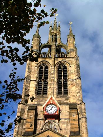 Church tower in England