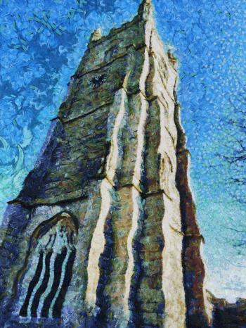 Church Tower Painting