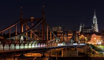 City Bridge Representation during Nigh Time